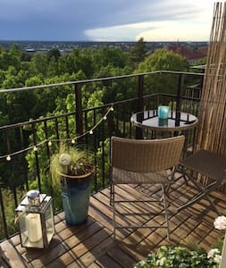 Charming two levelapartment with outstanding view.