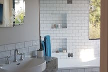Private bathroom with shower bath and separate own toilet