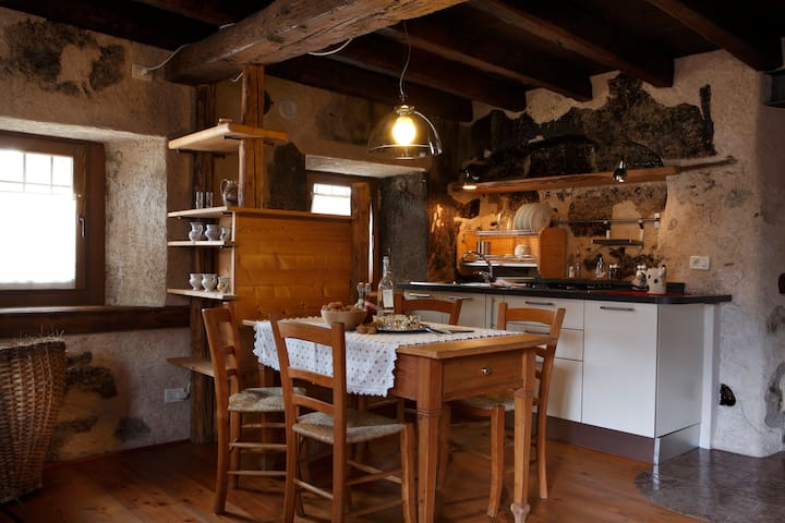 Typical house in Dolomites, Birot1