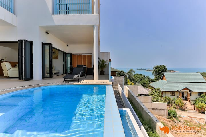 Villa Sail 2BR+Private Pool-Sea and Phangan View