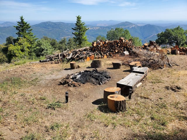 Palomar Mountain Hide Out Campfire Bring your tent