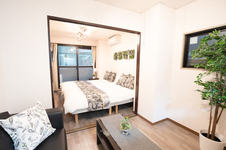 RN Great location 1min from Kuromon! Namba 5pax