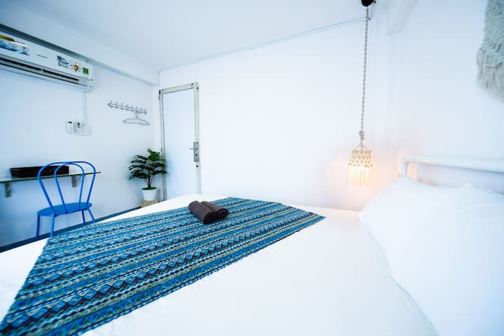 Room No.3. This is the most special room in the house. With this room, you have the spacious terrace all to yourself