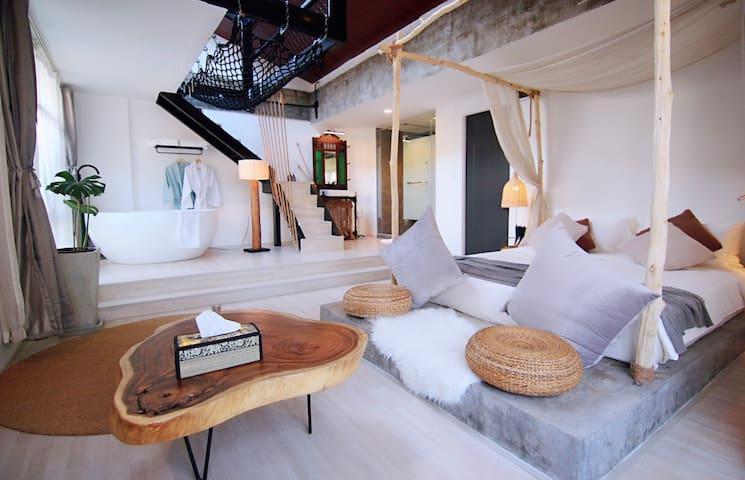 New!YOLO Bkk Hotel IB&BI BTS-MRT-Boat l LOFT