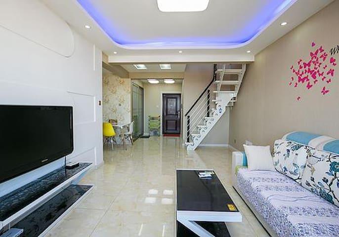 兴城海港湾KT猫日租公寓可住6人