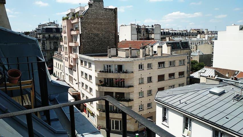 Deux pièces 18m2 rue de Meaux