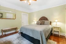 Third bedroom has comfortable Queen sized bed, TV w/satellite TV service, & closet