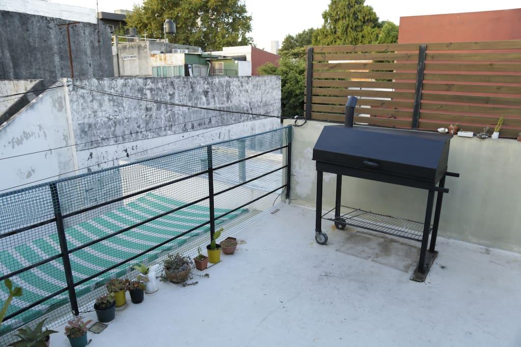 Parrilla en la terraza a cielo abierto