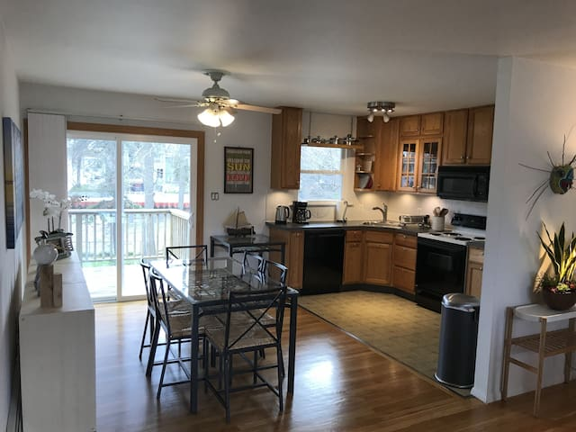 Kitchen, Dinning, and Deck