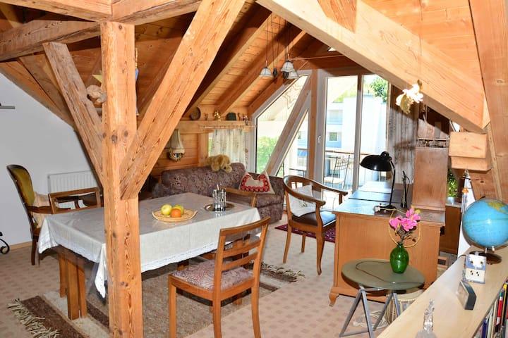 Ferienwohnung Leich -, Ferienwohnung für 1-2 Personen mit Balkon