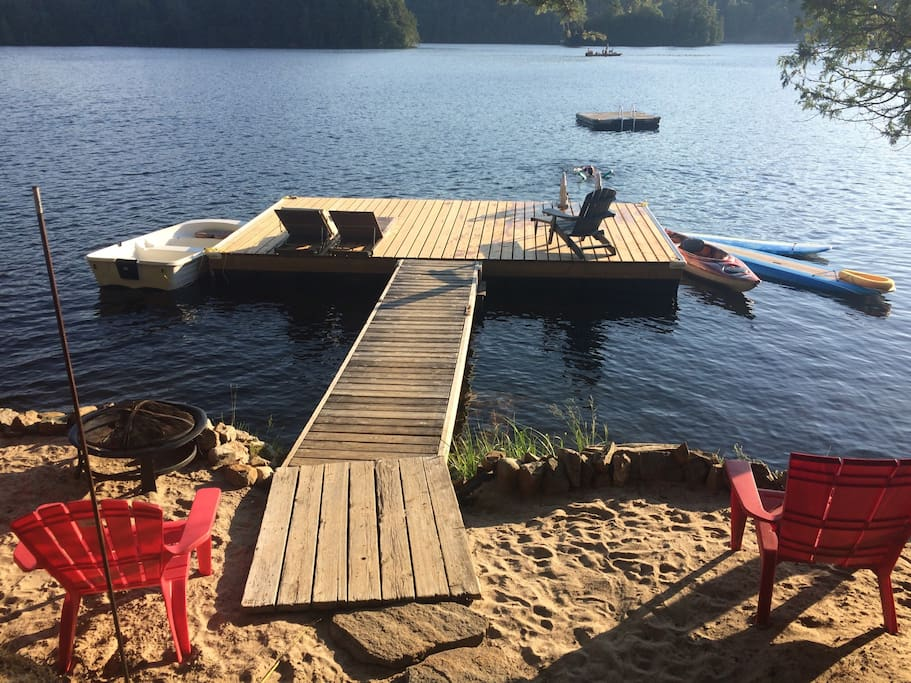 Waterfront and Dock with Floating Raft