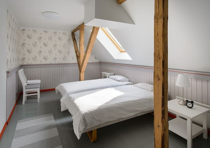 Modern guestrooms for groups and individuals
