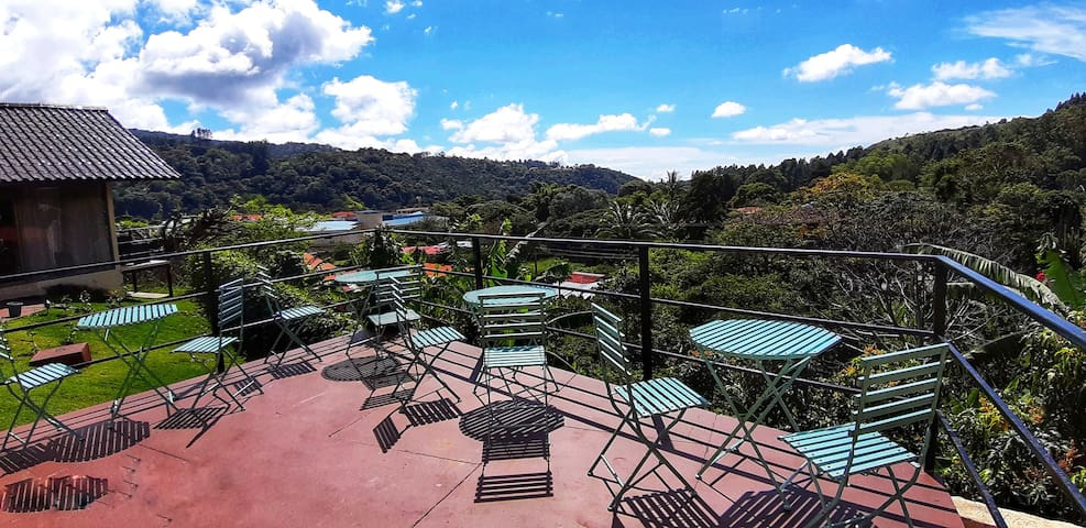 Have a seat at our terrace and enjoy the breathtaking view to the Boquete Valley