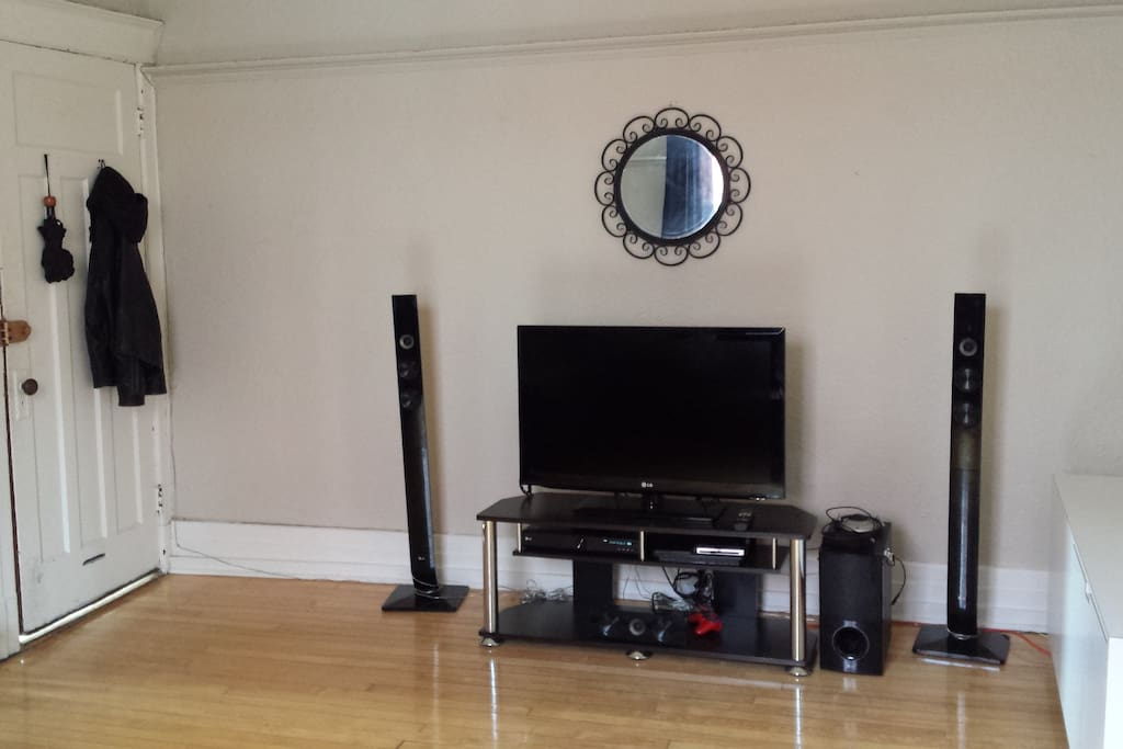 Television with home theater sound system