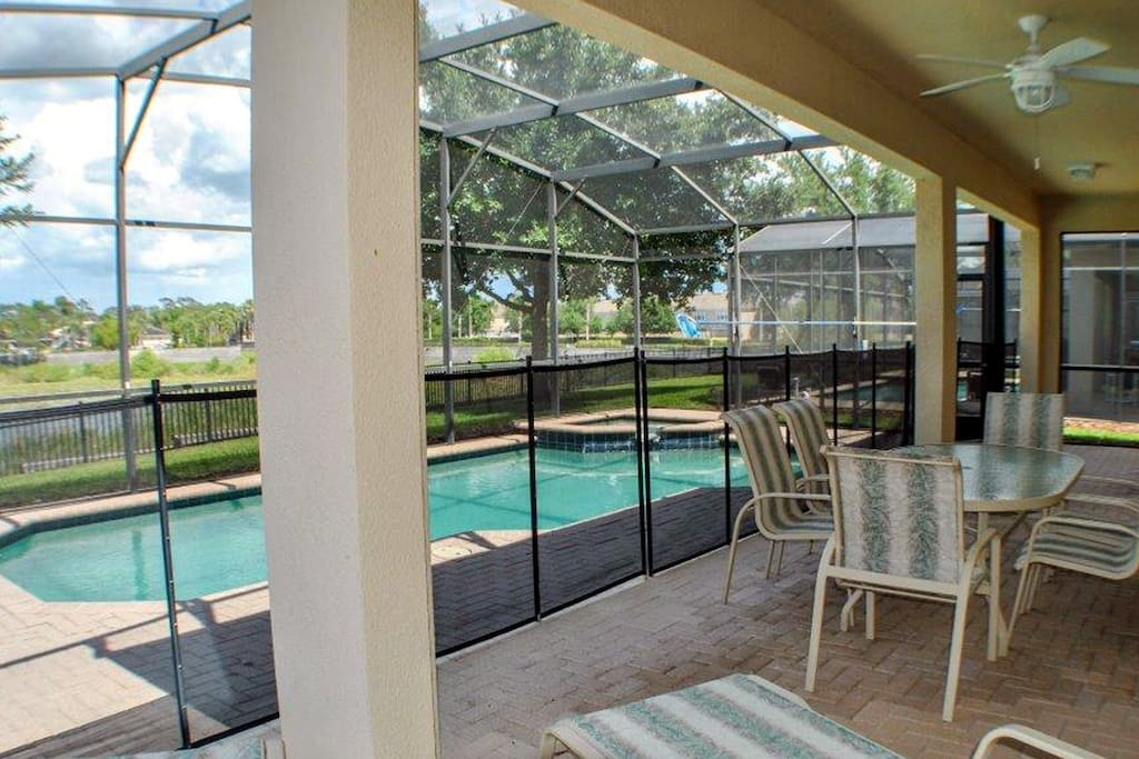 Covered Lanai And Pool/Spa