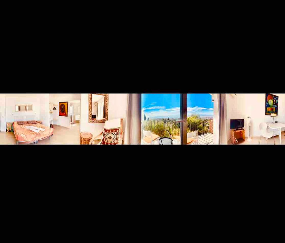 This room is about the views, nice place to explore the area around here, visit the pueblo and have a swim in the pool.