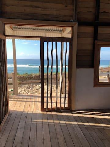 Beach front surf shack