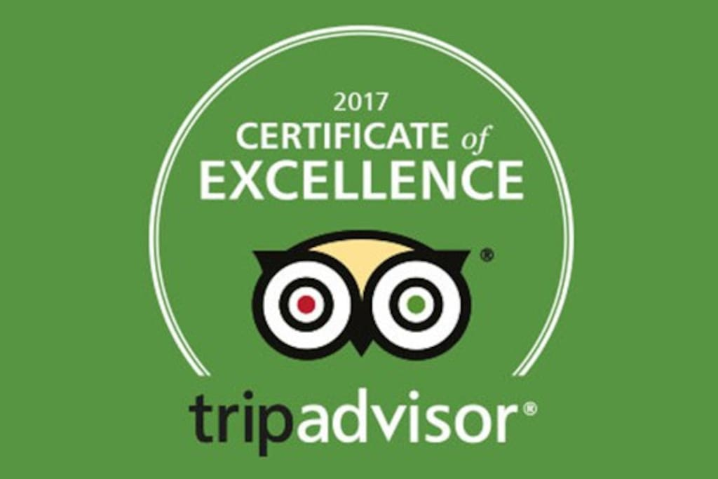 Received the tripadvisor Certificate of Excellence in 2017 :)