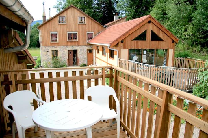 Gîte Perce-Neige 45m2 /piscine, spa et sauna