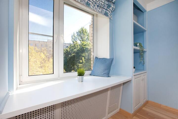 Уютная квартира в морских тонах-Голубая лагуна