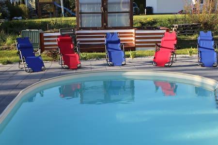 Moderne EG-Ferienwohnung mit Pool in Schwerin - Schwerin - Apartament