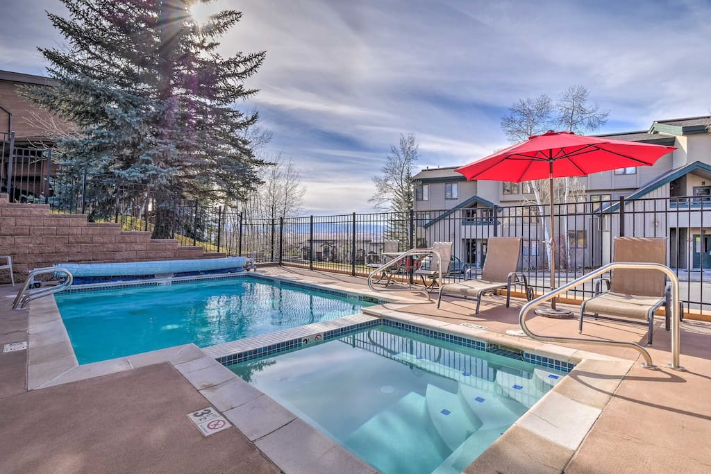 Take advantage of the various community amenities after a long day on the slopes.