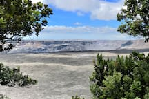 post eruption view of Halema'uma'u