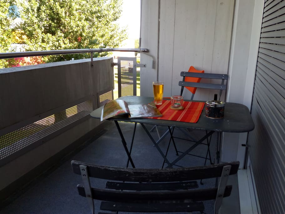 Cosy balcony, perfect for any kind of chill overlooking the vineyards