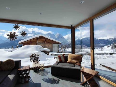 Modern ground floor apartment in the mountain village