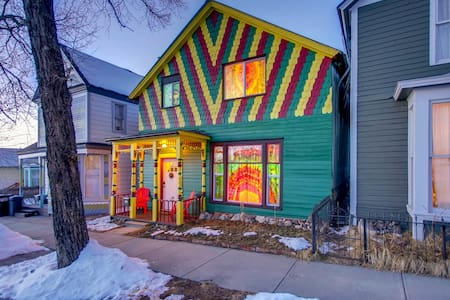 The Happy Hippie Tie Dye House - The Green Room