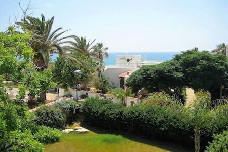 Beautiful beach house w/Garden 3 m. walk to beach - Tzukei Yam