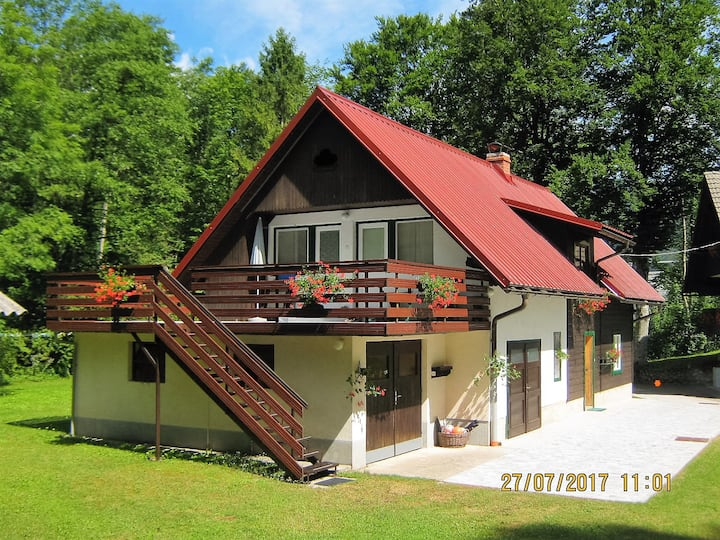 Peaceful apartment 150m away from lake Bohinj