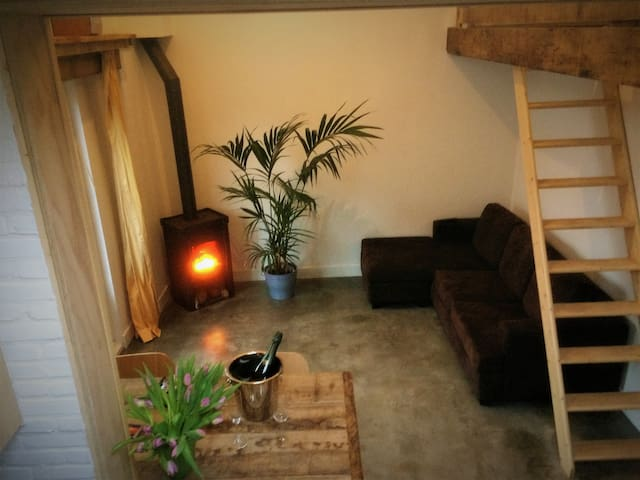 all season beach house with fireplace free parking - Noordwijk - Blockhütte