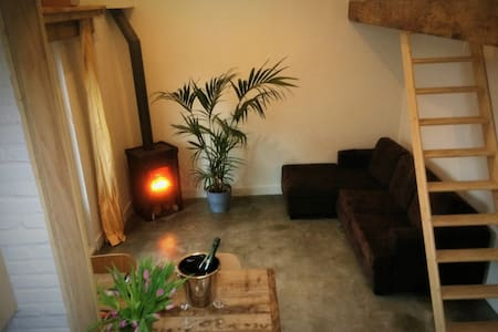all season beach house with fireplace free parking - Noordwijk - Kabin