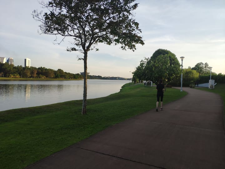 Next to Putrajaya Lake, quiet and peaceful