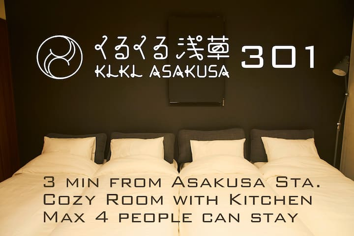 Max 4 people can stay
