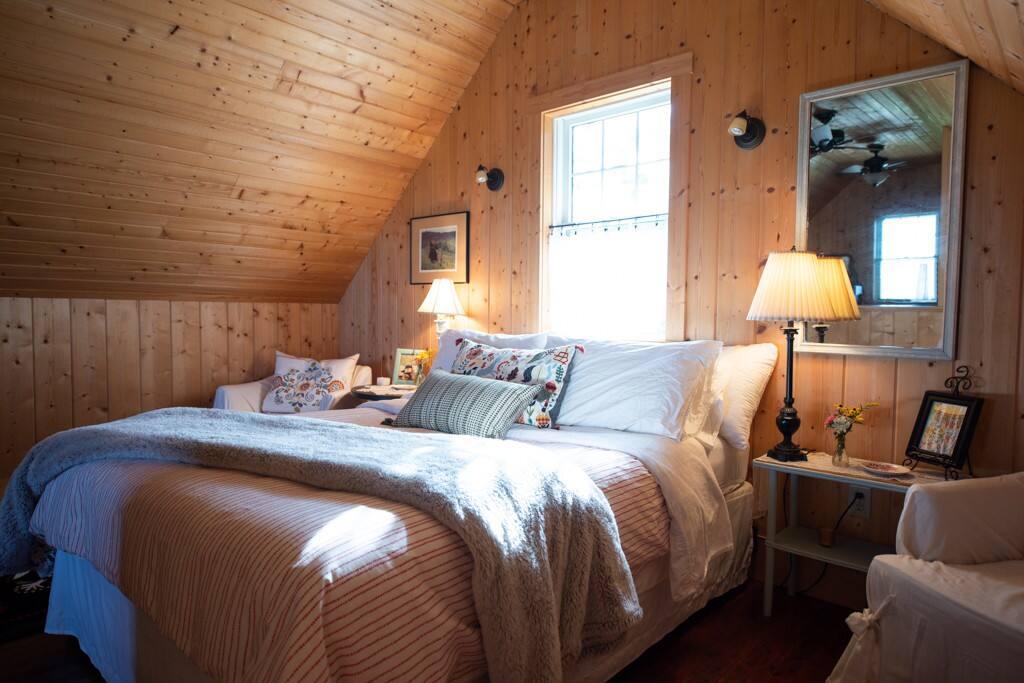 Cozy upstairs bedroom
