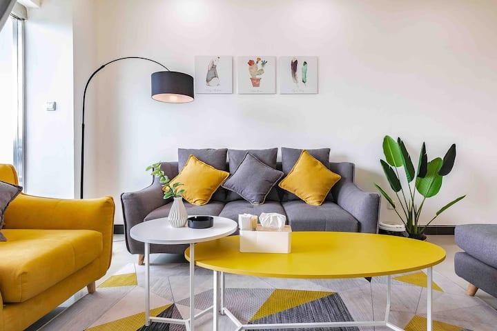 简约风格温馨舒适120平米大空间二居室