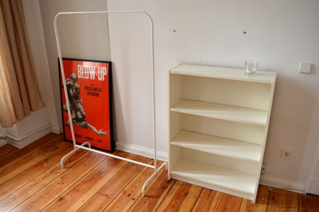 Shelves and rack