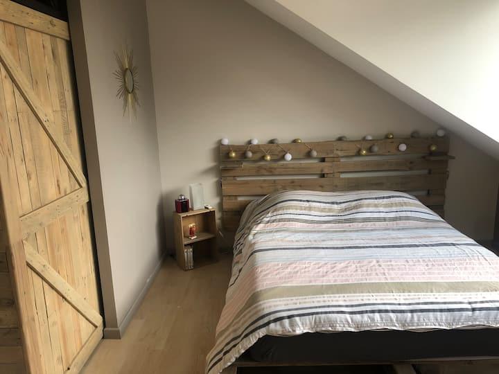 Maison 2 chambres, accès direct Genève avec Jardin