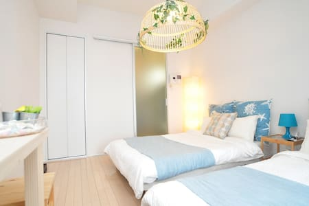 ◆Local Fashionable Area◆Twin room with BigBalcony◆ - Nishi-ku, Ōsaka-shi