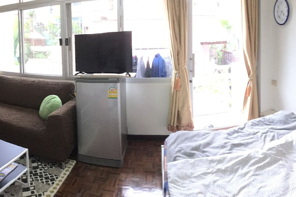 GUEST ROOM, Refrigerator and television ( could watch Japanese TV program in real time )