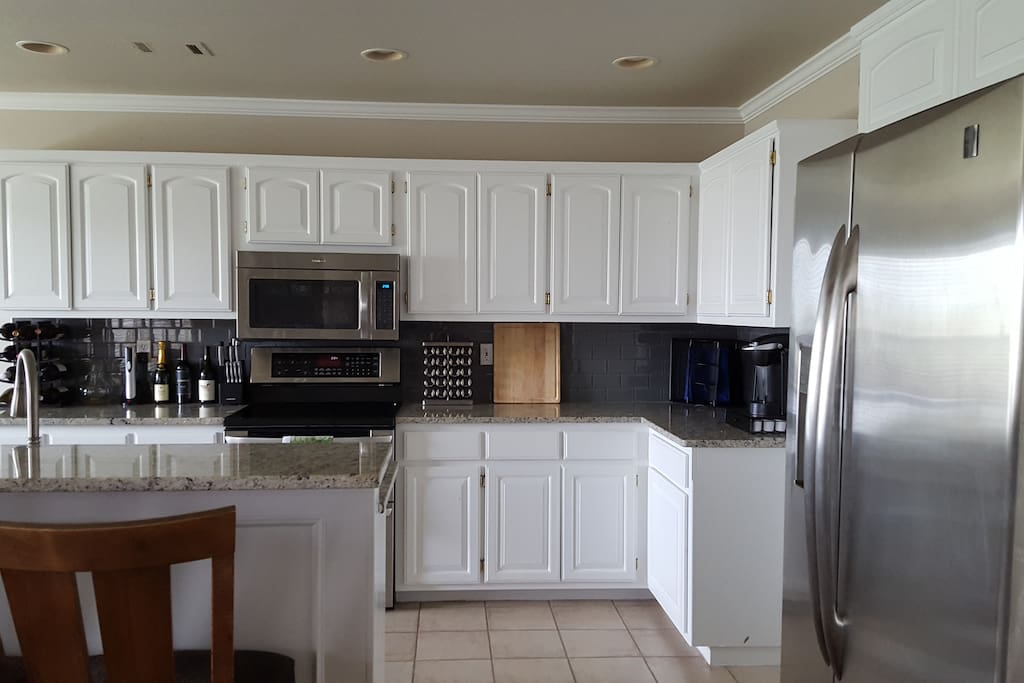 Granite countertops & updated appliances. Keurig with coffee pods. All available for your use!