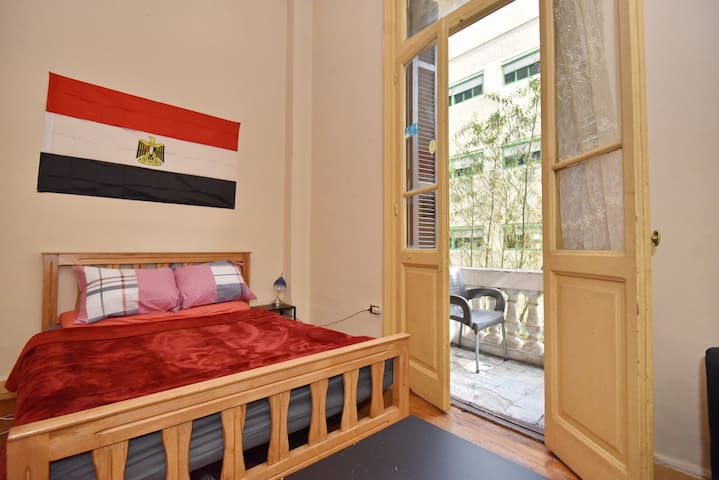 ✿❋Sunny Bedroom W/ Balcony in Downtown Cairo❋✿