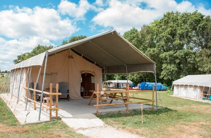 Safari tent XXL at medieval monestary