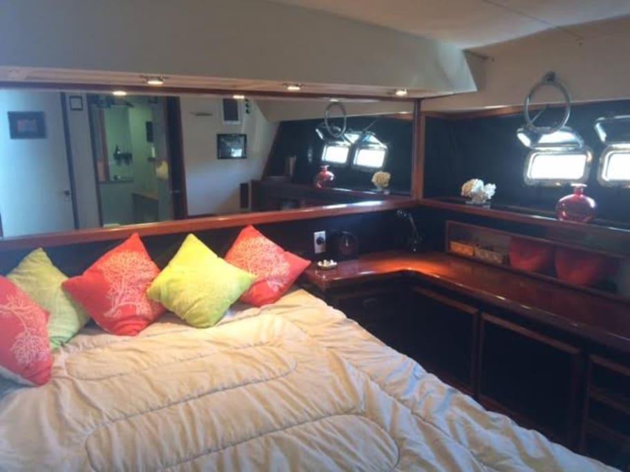 Cabine avec lit double