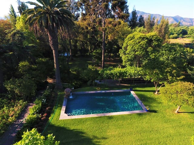 The pool and our beautiful garden