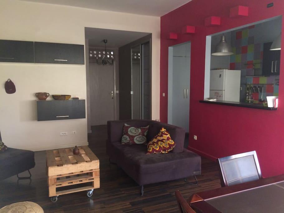 T2 meubl moderne dakar centre appartements louer for Appartement meuble a louer dakar senegal