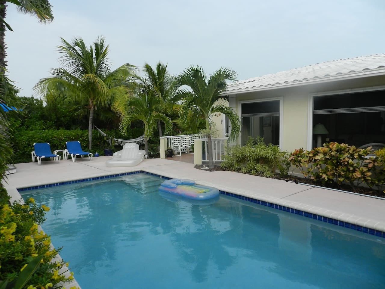 Private back yard with private pool