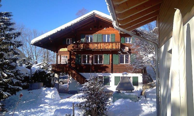 Chalet Thuus (14 pers + evt 4 pers) - Lenk - Alpstuga